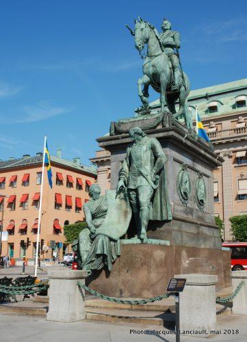 Statue équestre de GustavII, Stockholm, Suède
