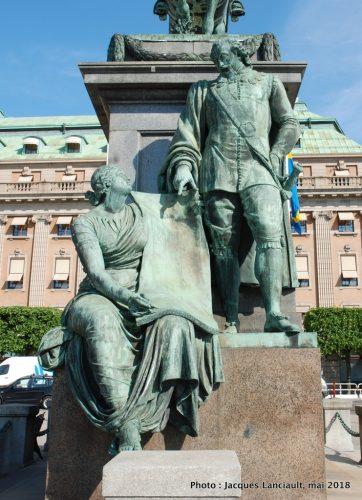 Monument GustavII Adolf, Stockholm, Suède