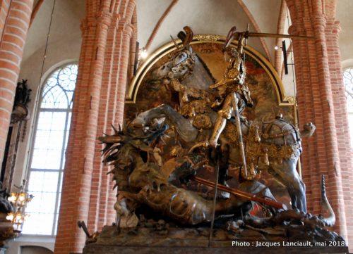 Saint Georges terrassant le dragon, Storkyrkan, Stockholm, Suède