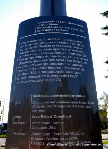 Le contour des conifères…, Jean-Robert Drouillard, Montréal, Québec