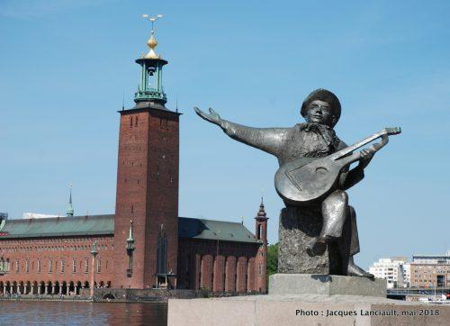 Statue de Evert Taube, Stockholm, Suède