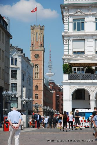 Place de l'Hôtel de Ville, Hambourg, Allemagne