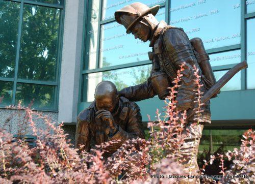 Monument aux pompiers décédés, Jean-Pierre Busque, Montréal, Québec