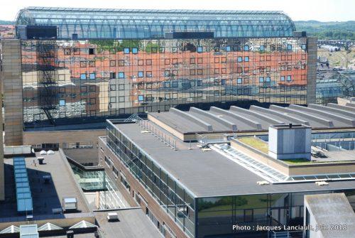 Vue du toit du Musée des arts d'Aarhus, Danemark