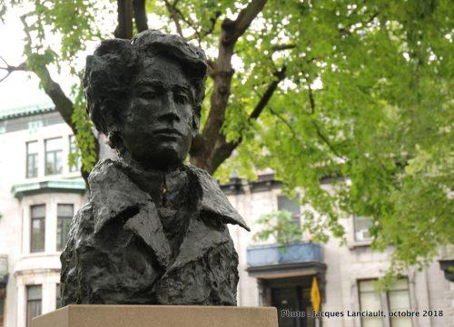 Émile Nelligan, Roseline Granet, Carré Saint-Louis, Montréal, Québec