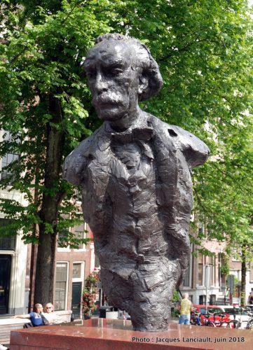 Statue de Multatuli, Amsterdam, Pays-Bas