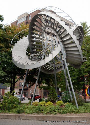 Révolutions, Michel de Broin, parc Maisonneuve-Cartier, Montréal, Québec