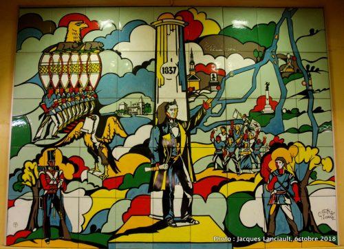 Les Patriotes de 1837-1838, Jean Cartier et George Juhasz, station de métro Papineau, Montréal, Québec