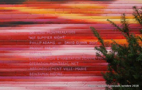 Saisons montréalaises - Hot Summer Night, David Guinn et Phillip Adams, Montréal, Québec