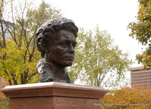 Émile Nelligan, Allée des poètes, parc de l'Esplanade, Québec