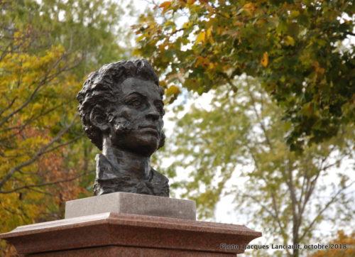 Alexandre Pouchkine, Allée des poètes, parc de l'Esplanade, Québec