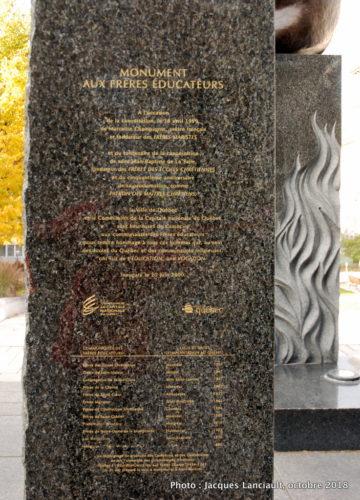Monument aux frères éducateurs, Québec