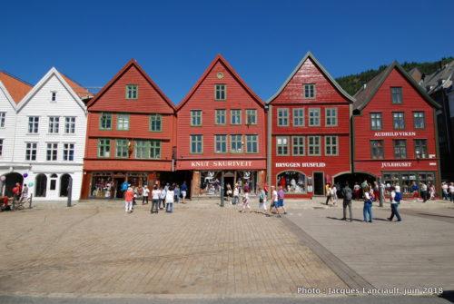 Maisons de la rue Bryggenb, Bergen, Norvège