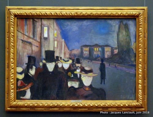 Soirée sur l'avenue Karl Johan, Edvard Munch, KODE3, Bergen, Norvège