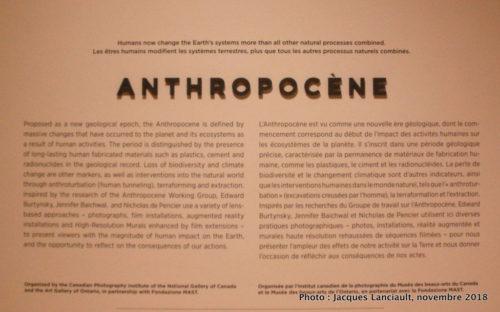 Anthropocène, Musée des beaux-arts du Canada, Ottawa, Ontario