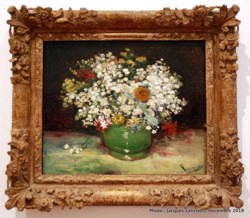 Zinnias et autres fleurs dans un vase, Musée des beaux-arts du Canada, Ottawa, Ontario