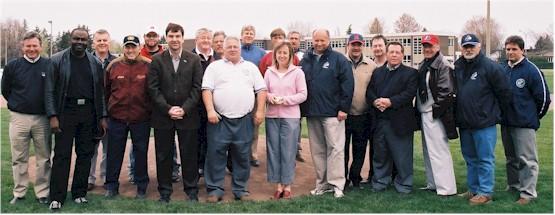 Dignitaires lors de l'ouverture de la saison 2005 à Longueuil