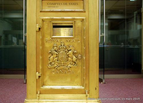 Boîte à lettres pour paiement des taxes, Hôtel de Ville de Montréal, Québec