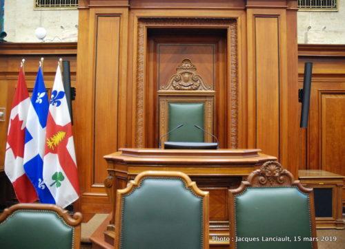 Salle du conseil, Hôtel de Ville de Montréal, Québec