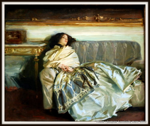 The Woman in Repose, John Singer Sargent, The National Gallery of Art, Washington D.C., États-Unis
