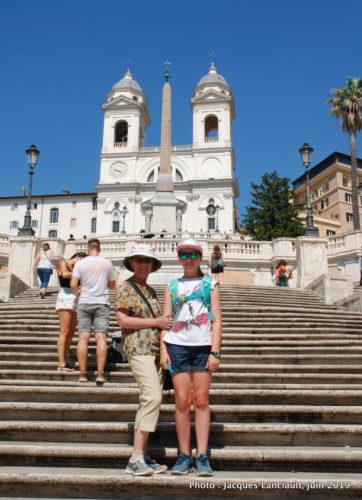 Céline et Chloé, Piazza Spagna, Rome, Italie