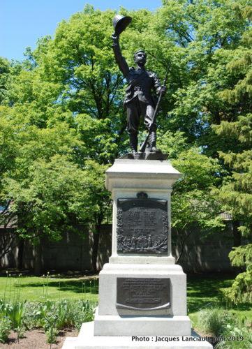 Monument de la guerre des Boers, Ottawa, Ontario