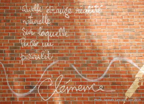 Hommage à Clémence DesRochers, Montréal, Québec