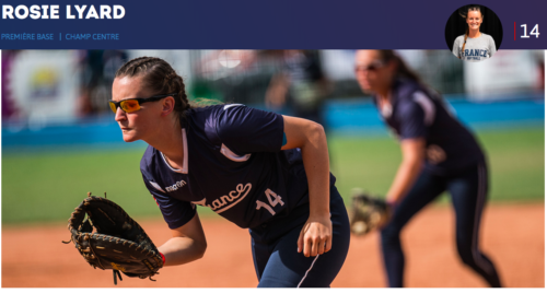 Rosie Lyard, équipe nationale de France de softball