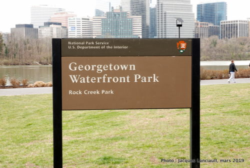 Georgetown Waterfront Park, Washington D.C., États-Unis