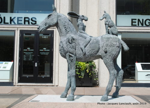 Lovers on Horseback, Sophie Ryder, Montréal, Québec