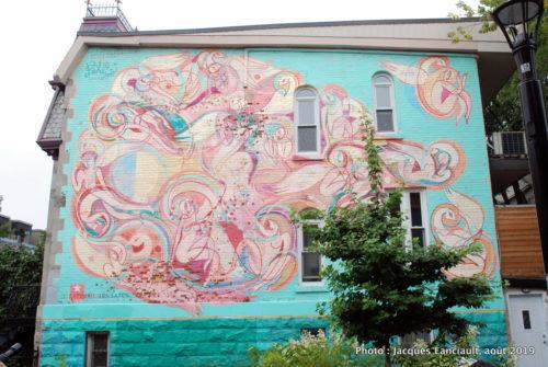 L'euphorie des sages, rue de Bullion, Montréal, Québec