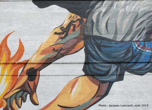 Lion anglais contre coq français, Jaz, Montréal, Québec