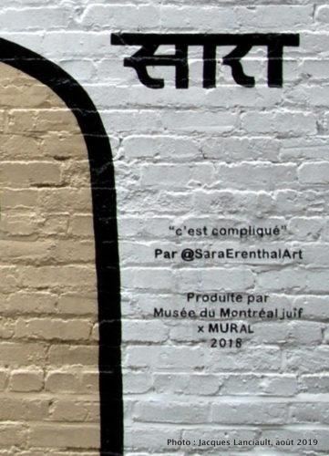 C'est compliqué, Sara Erenthal, Montréal, Québec