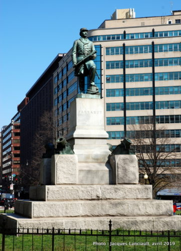 David Farragut Memorial, Farragut Square, Washington D.C., États-Unis