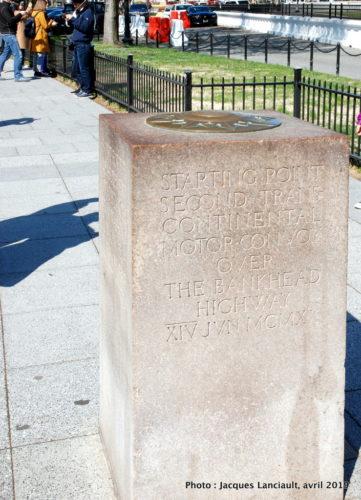 Zero Milestone, Washington D.C., États-Unis