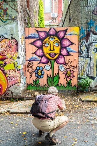 Graffitis, tags, murales,  Plateau Mont-Royal, Montréal, Québec