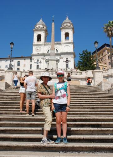 Escalier de la Trinité des Monts, Rome, Italie