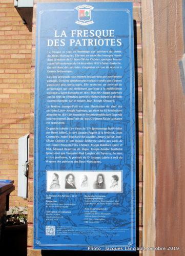 Fresque des Patrioles, Saint-Eustache, Québec