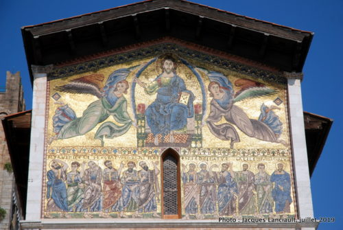Mosaïque, Basilica di San Frediano, Lucques, Italie