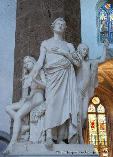 Monument Leon Batista Alberti, église Santa Croce, Florence, Italie