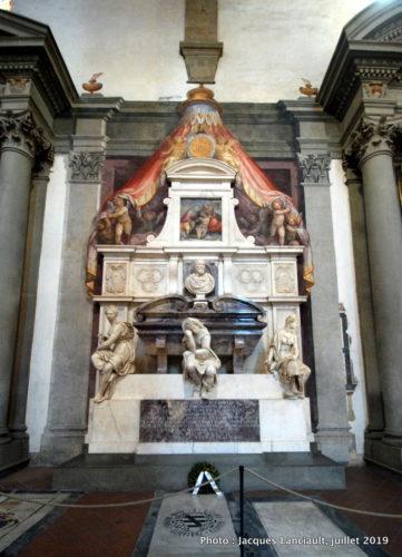 Monument funéraire de Michel-Ange, église Santa Croce, Florence, Italie
