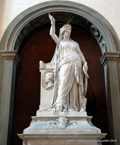 Monument funéraire de Giovan Battista Niccolini, église Santa Croce, Florence, Italie