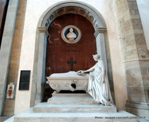 Monument funéraire de Gino Capponi, église Santa Croce, Florence, Italie
