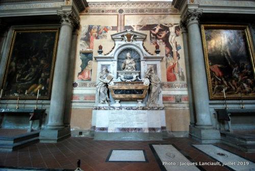 Monument funéraire de Galileo Galilei, église Santa Croce, Florence, Italie