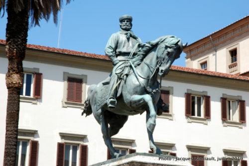 Statue équestre de Giuseppe Garibaldi, piazza Garibaldi, Pistoia, Italie