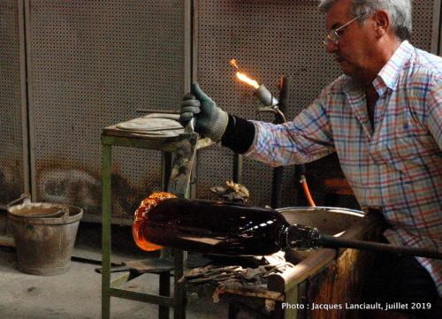 Maître verrier Fornace Mian, Murano, Italie