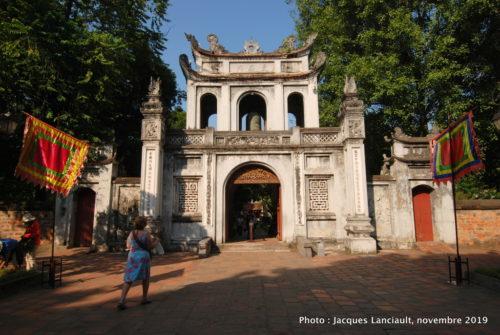 Portail d'entrée, temple de la Littérature, Hanoï, Vietnam