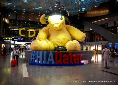 Lamp Bear, Aéroport internationnal Hammad, Doha, Qatar