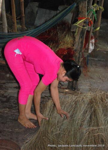 Fabrique de nattes, Tân Châu, Vietnam