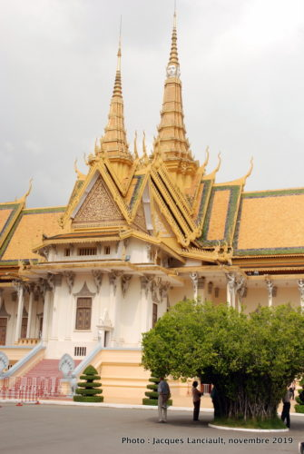 Salle du trône, palais Royal, Phnom Penh, Cambodge